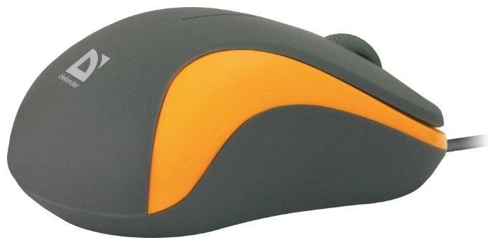 Мышь проводная Defender Accura MS-970 серый+ оранжевый, 3 кнопки,1000dpi