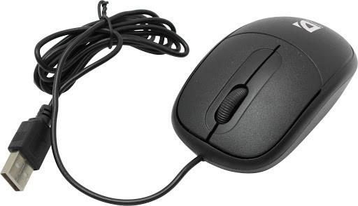 Мышь проводная Defender Datum MS-980 черный,3 кнопки,1000dpi