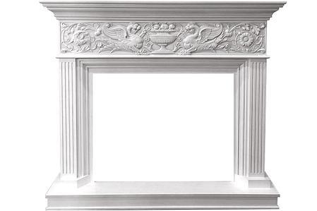Каминокомплект Palace - Белый с серебром с очагом Symphony 30'' DF3020-INT, фото 2