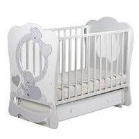 ЛЕЛЬ Кровать Baby sleep-9 МИШКИ Белый ПР 016
