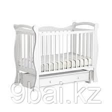 ЛЕЛЬ Кровать детская КУБАНОЧКА-10 маятниковая Белый Д 019