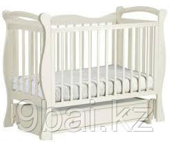 ЛЕЛЬ Кровать детская КУБАНОЧКА-10 маятниковая Ваниль Д 033