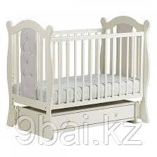 ЛЕЛЬ Кровать детская КУБАНОЧКА-9 универсальная с кожаными вставками Ваниль