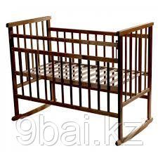 МОЙ МАЛЫШ Кровать детская 02 качалка темный