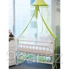 МОЙ МАЛЫШ Кровать детская 01 колесо-качалка съемная боковая стенка слоновая кость