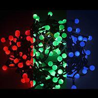"""Гирлянда """"Мультишарики"""" - 10 метров, 80 шариков диаметром 23 мм, разноцветная, смена цвета свечения"""