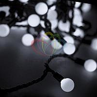"""Гирлянда """"LED - шарики"""" - 10 метров, 80 шариков диаметром 23 мм, белый свет, постоянное свечение"""