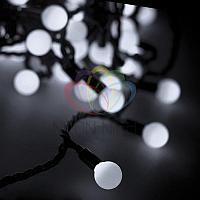 """Гирлянда """"LED - шарики"""" - 20 метров, 200 шариков диаметром 17,5 мм, белый свет, постоянное свечение"""