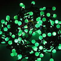 """Гирлянда """"LED - шарики"""" - 20 метров, 200 шариков диаметром 17,5 мм, зеленый свет, постоянное свечение"""