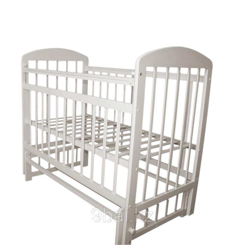 МОЙ МАЛЫШ Кровать детская 09 маятник универсальный с накладкой Белый