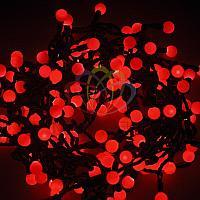 """Гирлянда """"LED - шарики"""" - 20 метров, 200 шариков диаметром 17,5 мм, красный свет, постоянное свечение"""
