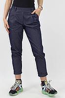 Женские летние хлопковые синие деловые брюки VLADOR 500412 темно-синий 42р.
