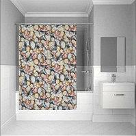 Водонепроницаемая тканевая шторка для ванной Tropik полиэстер 180x200 см BS 11909