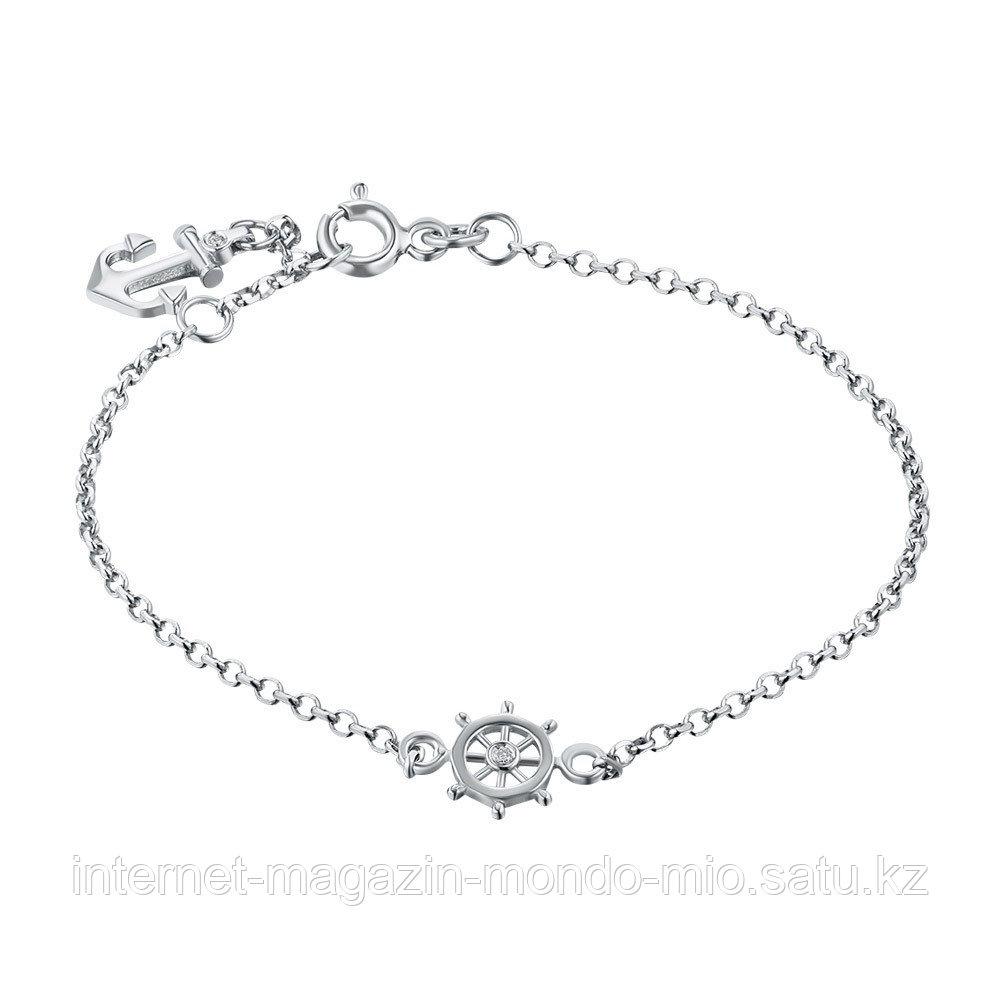 """Браслет """"Морской стиль"""" из серебра с бриллиантом"""