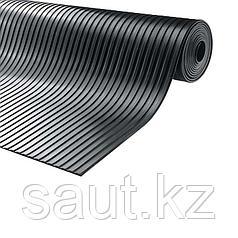 Покрытие резиновое - широкий рубчик, черный