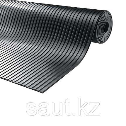 Покрытие резиновое - широкий рубчик, черный, фото 2