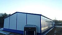 Быстровозводимый теплый склад 24Шх60Дх6В из легких металлоконструкций