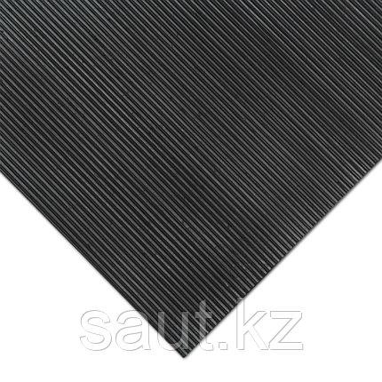 Покрытие резиновое - мелкий рубчик, черное, фото 2