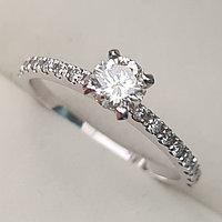 Золотое кольцо с бриллиантом 0,43Сt VS1/I EX-Cut, фото 1