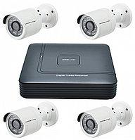 Комплект видеонаблюдения 4 камеры