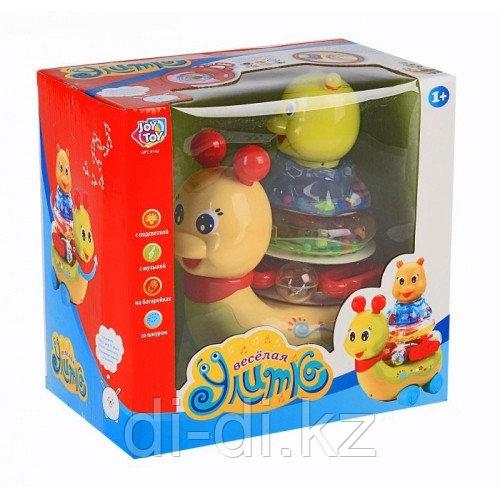 Детская развивающая игрушка для малышей Весёлая улитка + пирамидка