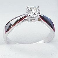 Золотое кольцо с бриллиантом 0,30Сt SI1/J G-Cut, фото 1