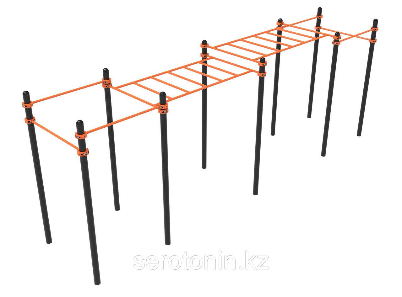 Комплекс турников, рукоход 2 уровня Воркаут