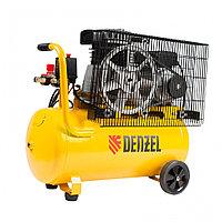 Компрессор воздушный рем. привод BCI2300/50, 2.3 кВт, 50 литров, 400 л/мин// Denzel