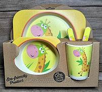 """Набор Детской посуды из Бамбука """"BAMBOO KIDS SET""""(уточнить о расцветках), фото 3"""