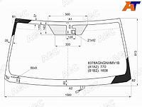 Стекло лобовое с обогревом щеток + дд (зеленая полоса) TOYOTA LAND CRUISER/LEXUS LX570 07-15