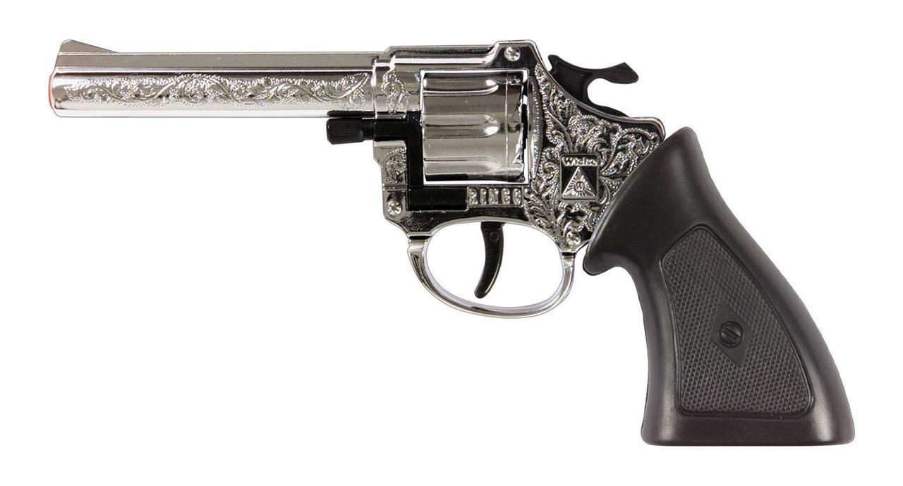 """Пистолет """"Специальный агент"""" Ringo хромированный, 8-зарядный, 198 мм"""