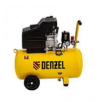 Компрессор воздушный прямой привод DC1700/50, 1.7 кВт, 50 литров, 260 л/мин// Denzel