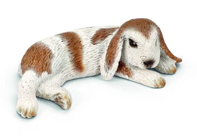 Schleich Кролик Карликовый, лежачий, 6 см.
