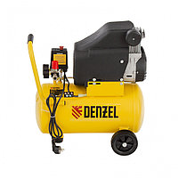 Компрессор воздушный DLC1300/24 безмасляный 1.3 кВт, 24 литра, 206 л/мин// Denzel