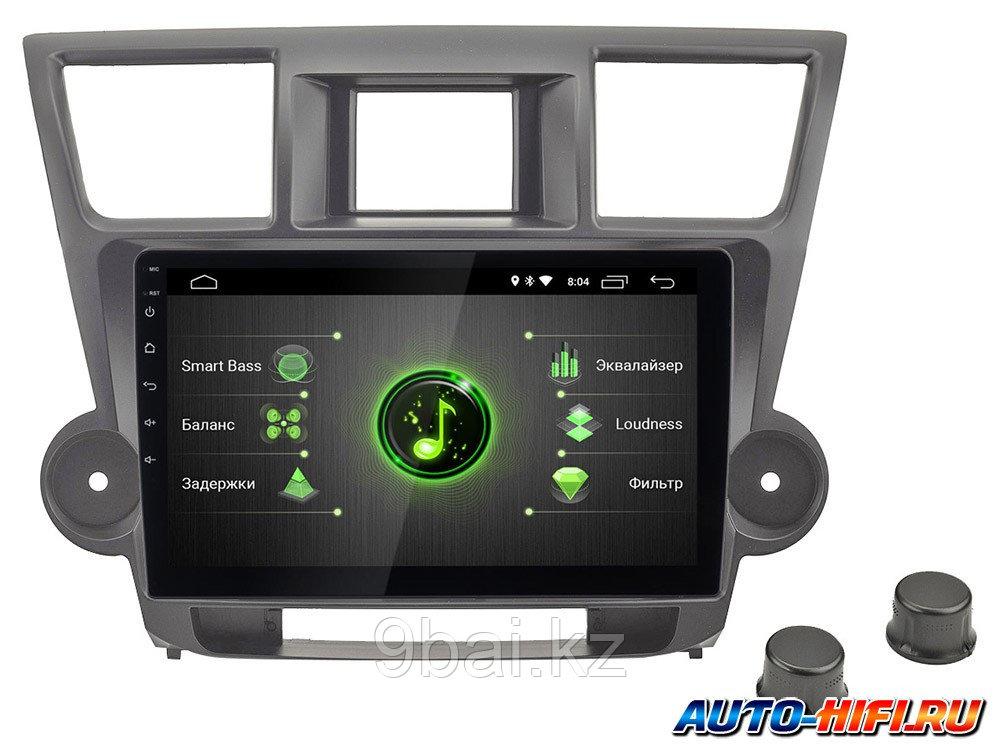 "ШГУ Toyota Highlander 07-13 (Incar DTA-2214) Android 10/1024*600, wi-fi, IPS, BT, Navi, DSP, 10"""