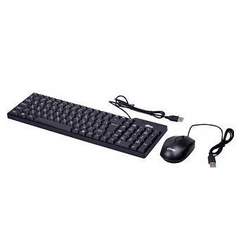 Комплект проводной клавиатура+ мышь Ritmix RKC-010 черный