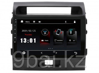 "ШГУ Toyota LC 200 07-15 (Nakamichi NTA-2212) 4x50Вт,RDS,MP5,USB,BT,2.5D экран,мультиподсветка,MirrorLink, 10"""