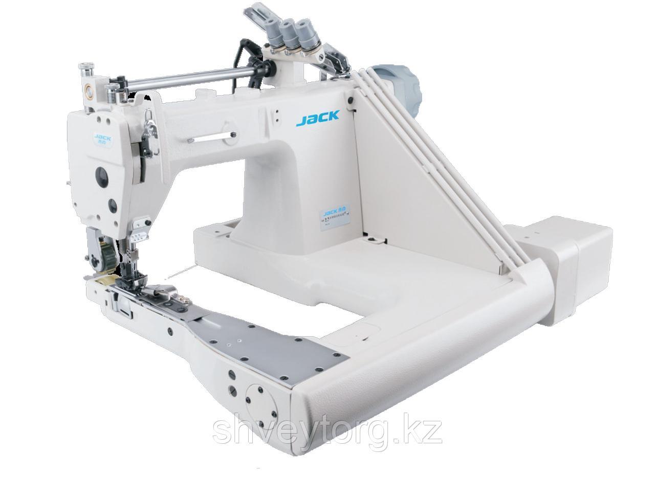 Двухигольная промышленная швейная машина цепного стежка на П-образной платформе Jack 9270D-12-2PLQ