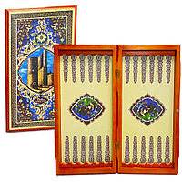 Настольная игра нарды деревянные Старый Баку 42х46 см