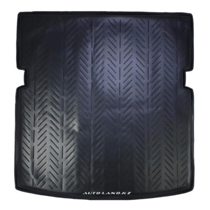Коврик в багажник Audi Q7 (2006-2015) 7 мест, 3-й ряд сложен рельсы