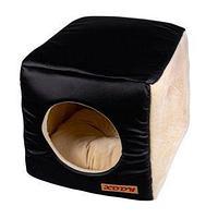 Домик Куб трансформер №3 (кожа/мех) КСОДИ 40*40*40 см, фото 1