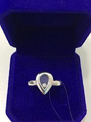 Кольцо с цирконом / белое золото