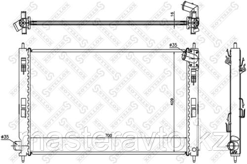 РАДИАТОР ОСНОВНОЙ STELLOX MITSUBISHI ASX,OUTLANDER XL 1.6-2.0 (CW) 06-