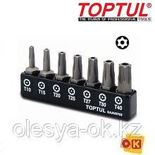 Набор бит TORX с отверстием Т10-Т40 7шт. TOPTUL (GAAV0703)