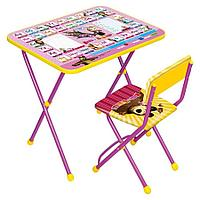 НИКА Набор мебели МАША И МЕДВЕДЬ (стол+мягкий моющийся стул) Азбука3