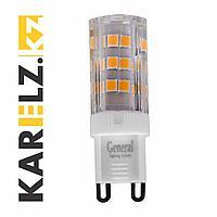 Лампа LED GLDEN-5W-P/220V/G9/6K,пластик(General)(5/100/500),684100
