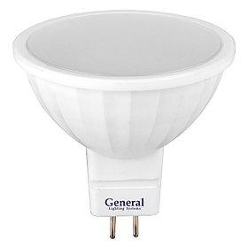 Лампа GLDEN-MR16-15-230-GU5.3-6500, (General), 10/100, 661072