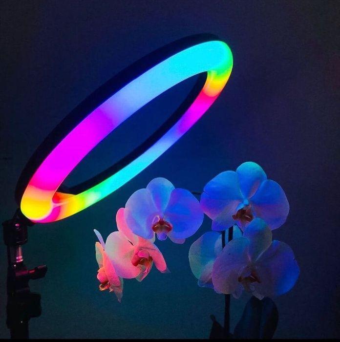 +ПОДАРКИ! Кольцевые Лампы 26 см Цветная разноцветная RGB LED
