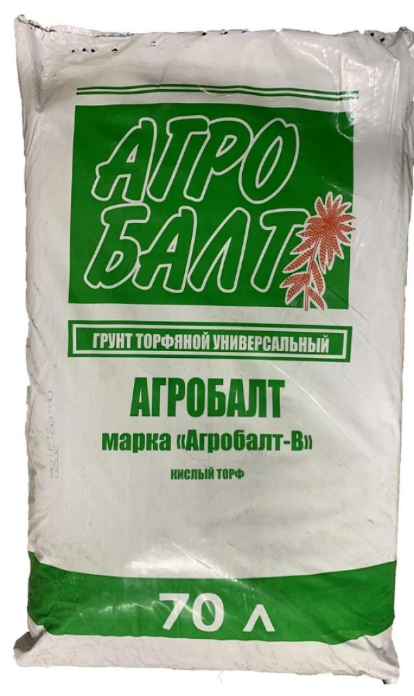 Субстрат Агробалт-В верховой (кислый) 0-20мм 70л