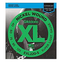 Струны для 5-струнной бас-гитары D'Addario EXL220-5